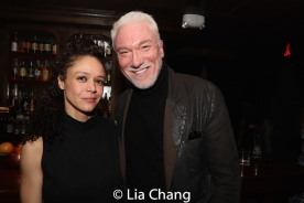 Amber Gray and Patrick Page. Photo by Lia Chang