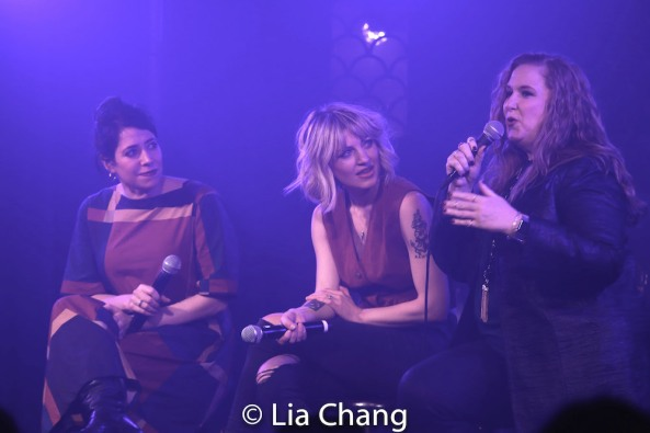 Rachel Chavkin, Anaïs Mitchell and Julie James. Photo by Lia Chang