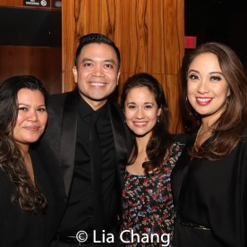 Liz Casasola, Jose Llana, Ali Ewoldt and Jaygee Macapugay. Photo by Lia Chang