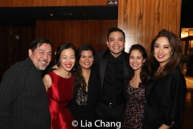 Alan Ariano, Lia Chang, Liz Casasola, Jose Llana, Ali Ewoldt and Jaygee Macapugay. Photo by Garth Kravits