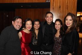 Alan Ariano, Lia Chang, Liz Casasola, Jose Llana, Ali Ewoldt and Jaygee Macapugay. Photo by Garth Kravits