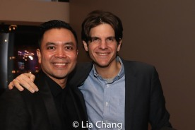 Jose Llana and his HERE LIES LOVE director Alex Timbers. Photo by Lia Chang
