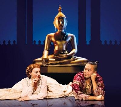 Annalene Beechey as Anna and Jose Llana as The King.