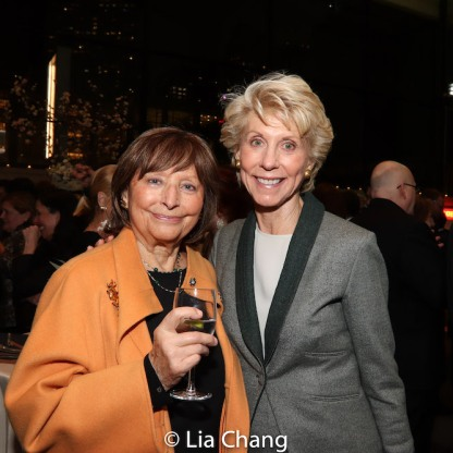 A guest and Joan Steinberg. Photo by Lia Chang