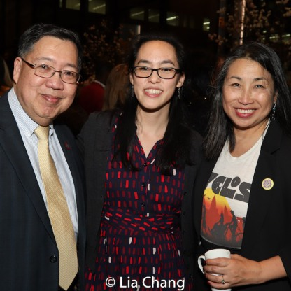 Frank Yee, Lauren Yee and Linda Chin Workman. Photo by Lia Chang