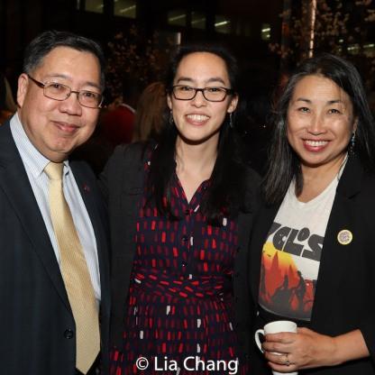 Frank Yee, Lauren Yee and Linda Chin Workman. Photo by Lia Chang