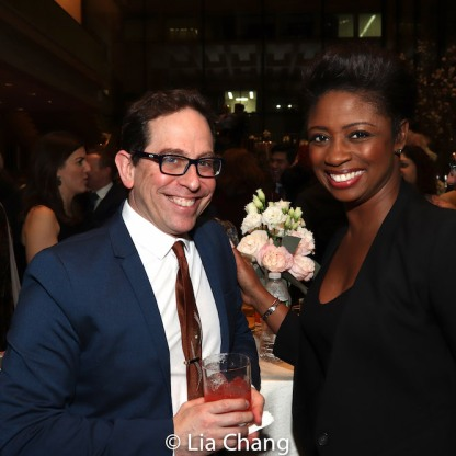 Garth Kravits and Montego Glover. Photo by Lia Chang