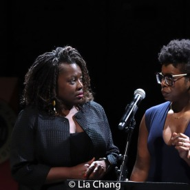Heather Alicea Simms and Roslyn Ruff. Photo by Lia Chang