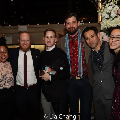 Jesca Prudencio, Joshua Kahan Brody, a guest, Matt MacNelly, Joseph Ngo and Lauren Yee. Photo by Lia Chang