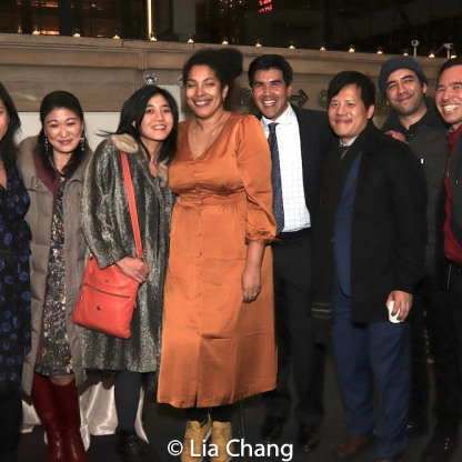 Meiyin Wang, Jennifer Lim, Mimi Lien, Jackie Sibblies Drury, Pun Bandhu, Dustin Chinn and guests. Photo by Lia Chang