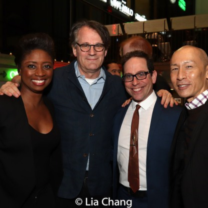Montego Glover, Bartlett Sher, Garth Kravits and Francis Jue. Photo by Lia Chang