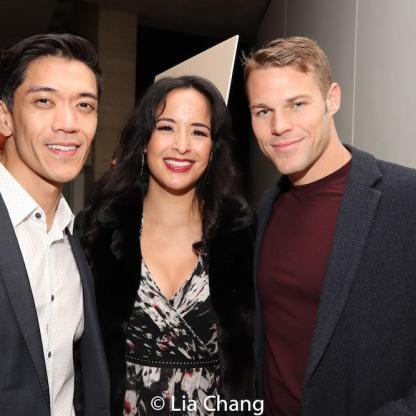 Moses Villarama, Courtney Reed and Brock Harris. Photo by Lia Chang