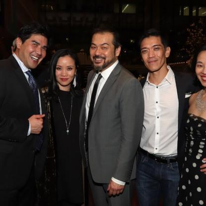 Pun Bandhu, Tina Chilip, David Shih, Moses Villarama and Lia Chang. Photo by Garth Kravits