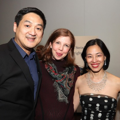 Timothy Huang, Laura Brandel and Lia Chang. Photo by Garth Kravits