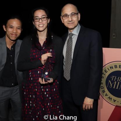 Tony Aidan Vo, Lauren Yee, Ned Eisenberg. Photo by Lia Chang