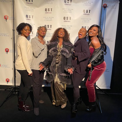 Pascale Armand, Marjorie L. Johnson, Crystal Fox, Brenda Braxton, Candyce Adkins. Photo by Lia Chang