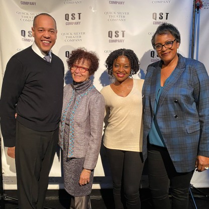 Tyrone Mitchell Henderson, Lizan Mitchell, Pascale Armand and Inga Ballard. Photo by Lia Chang