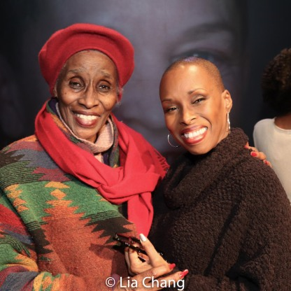 Mrs. Braxton and her daughter, Brenda Braxton. Photo by Lia Chang