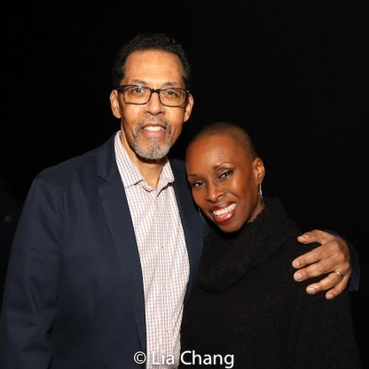 Peter Jay Fernandez and Brenda Braxton. Photo by Lia Chang