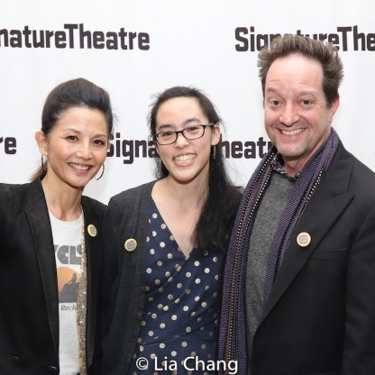 Tamlyn Tomita, Lauren Yee and Daniel Blinkoff. Photo by Lia Chang