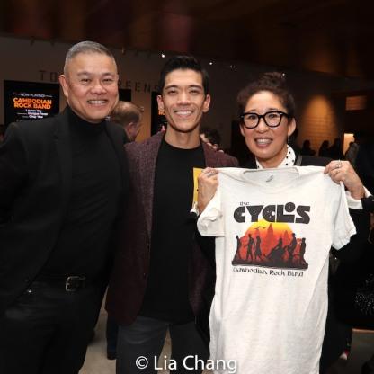 Chay Yew, Moses Villarama and Sandra Oh. Photo by Lia Chang