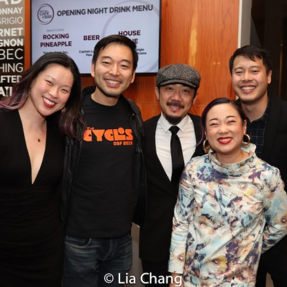 Jeena Yi, Daisuke Tsuji, Abraham Kim, Pricilla Liang and a guest. Photo by Lia Chang