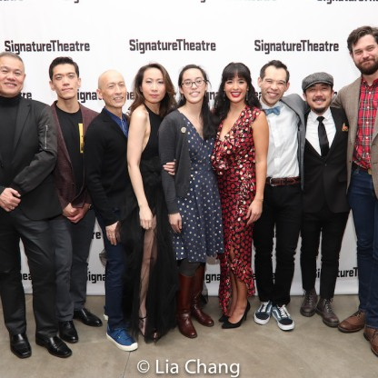 Chay Yew, Moses Villarama, Francis Jue, Jane Lui, Lauren Yee, Courtney Reed, Joe Ngo, Abraham Kim, Matt MacNelly. Photo by Lia Chang