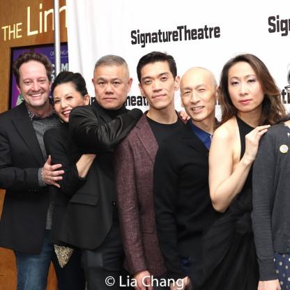 Daniel Blinkoff, Tamlyn Tomita, Chay Yew, Moses Villarama, Francis Jue, Lauren Yee. Photo by Lia Chang