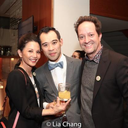 Tamlyn Tomita, Joe Ngo and Daniel Blinkoff. Photo by Lia Chang