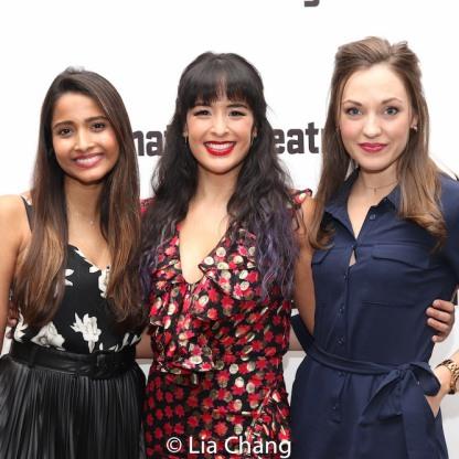 Shoba Narayan, Courtney Reed, Laura Osnes. Photo by Lia Chang