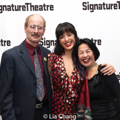 Courtney Reed and her parents. Photo by Lia Chang