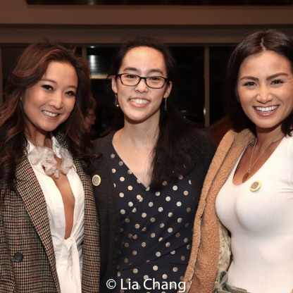 Ashley Park, Lauren Yee and a guest. Photo by Lia Chang