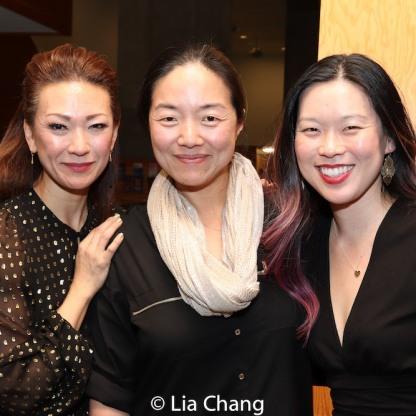 Amy Kim Waschke, Desdemona Chiang and Jeena Yi. Photo by Lia Chang
