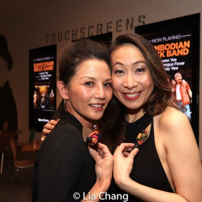 Tamlyn Tomita and Jane Lui. Photo by Lia Chang