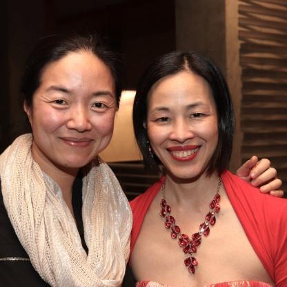 Desdemona Chiang and Lia Chang. Photo by Garth Kravits.