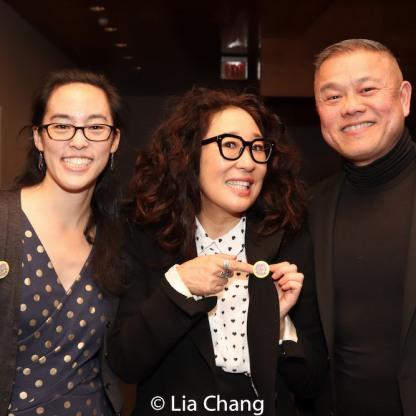 Lauren Yee, Sandra Oh and Chay Yew. Photo by Lia Chang