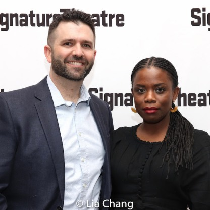 Graham Schmidt and Antoinette Nwandu. Photo by Lia Chang