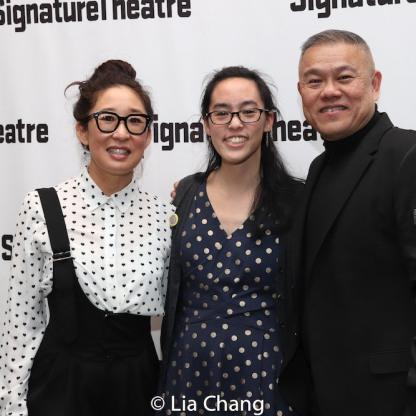 Sandra Oh, Lauren Yee and Chay Yew. Photo by Lia Chang