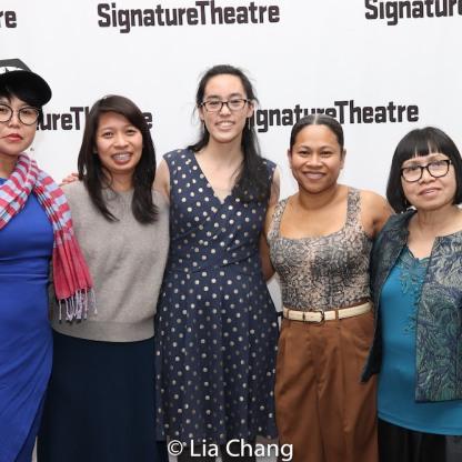 Sokunthary Svay, Socheatta Meng, Lauren Yee, Chhaya Chhoum and Auntie. Photo by Lia Chang