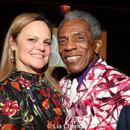 Teresa Eyring and André De Shields. Photo by Lia Chang