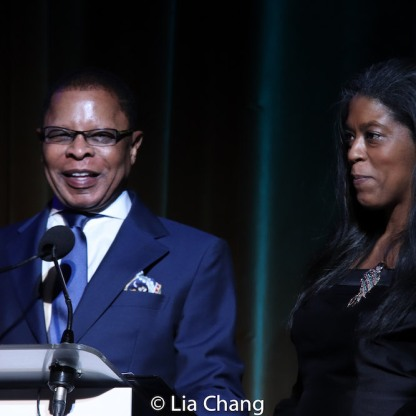 Broadway producers Stephen C. Byrd and Alia Jones-Harvey. Photo by Lia Chang