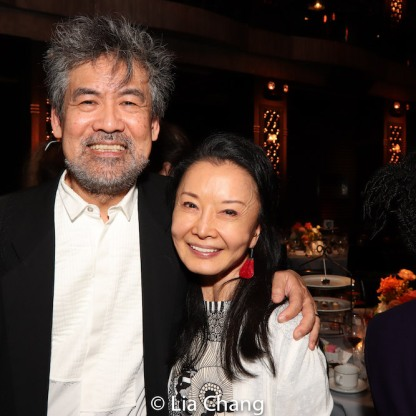 David Henry Hwang and Ako Dachs. Photo by Lia Chang