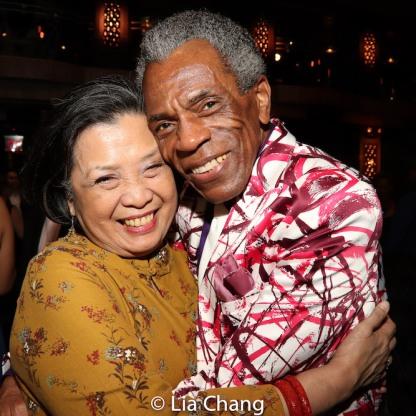 Mia Katigbak and André De Shields. Photo by Lia Chang