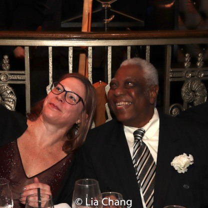 kb saine and Woodie King, Jr. Photo by Lia Chang