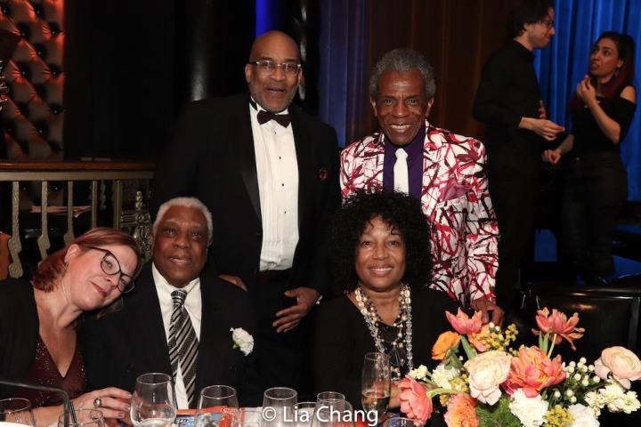 kb saine, Woodie King, Jr. Michael Dinwiddie, Elizabeth Van Dyke and André De Shields. Photo by Lia Chang