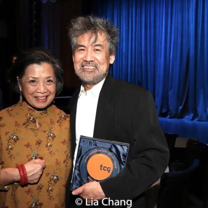 Mia Katigbak and David Henry Hwang. Photo by Lia Chang