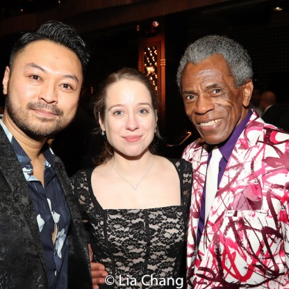 Billy Bustamante, Alyse Alan Louis and André De Shields. Photo by Lia Chang