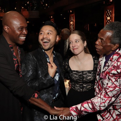 James Jackson, Jr., Billy Bustamante, Alyse Alan Louis and André De Shields. Photo by Lia Chang
