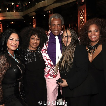 A guest, Jackie Jeffries, André De Shields, Linda Armstrong and Debra Ann Byrd. Photo by Lia Chang