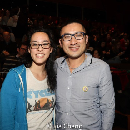 Lauren Yee and Huang Ruo. Photo by Lia Chang
